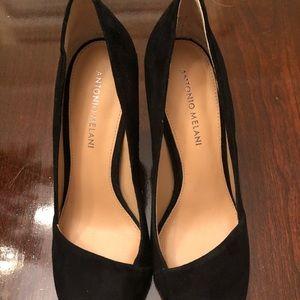 ANTONIO MELANI Shoes - Black Suede Size 9 Heels